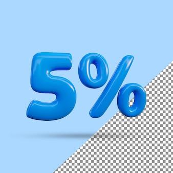 3d-рендеринг с 5-процентным текстовым эффектом
