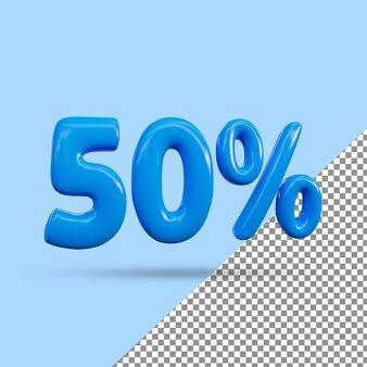 3d-рендеринг с 50-процентным текстовым эффектом