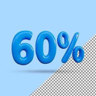 3d-рендеринг с 60-процентным текстовым эффектом