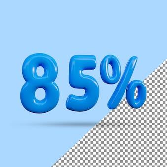 3d-рендеринг с 85-процентным текстовым эффектом