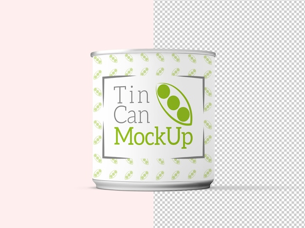 缶モックアップの3dレンダリング