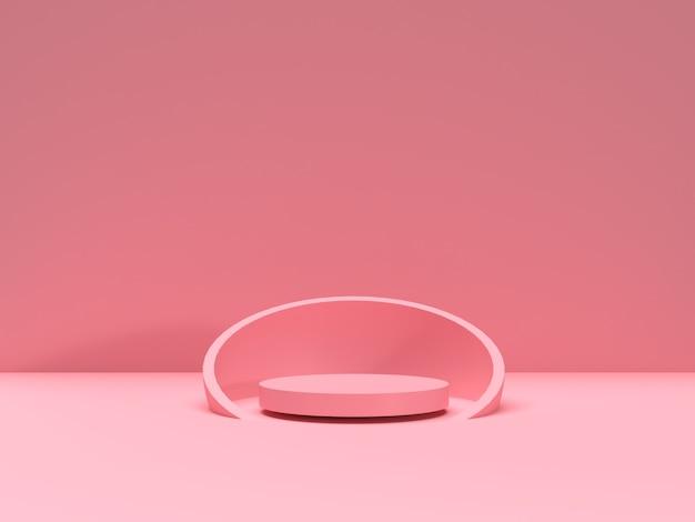 3d-рендеринг абстрактной сцены геометрической формы подиума для демонстрации продукта
