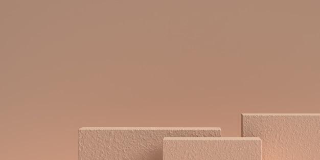 3d-рендеринг абстрактного подиума формы геометрии сцены