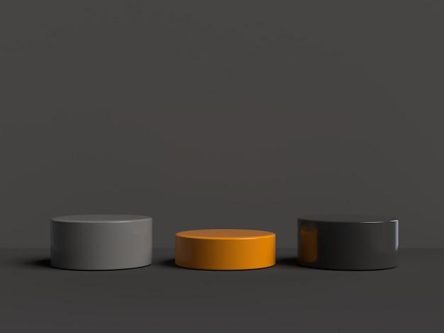 抽象的なシーンジオメトリ形状表彰台の3 dレンダリング