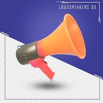 3d-рендеринг рекламного громкоговорителя