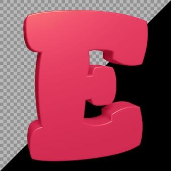 3d-рендеринг буквы e алфавита