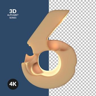 알파벳 숫자의 3d 렌더링
