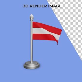 오스트리아 국기 개념의 3d 렌더링 오스트리아 국경일 프리미엄 psd