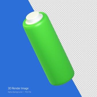흰색 절연 배터리 아이콘 개체의 3d 렌더링.
