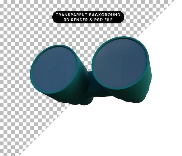 双眼鏡の3dレンダリング