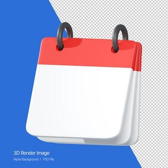 흰색 절연 빈 메모장 아이콘의 3d 렌더링.