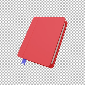 책 그림의 3d 렌더링