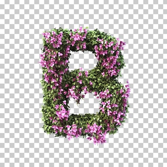 3d-рендеринг бугенвиллии алфавита b