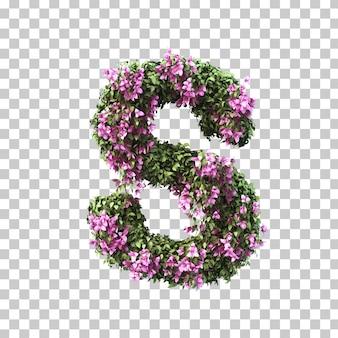 3d-рендеринг бугенвиллии алфавита s