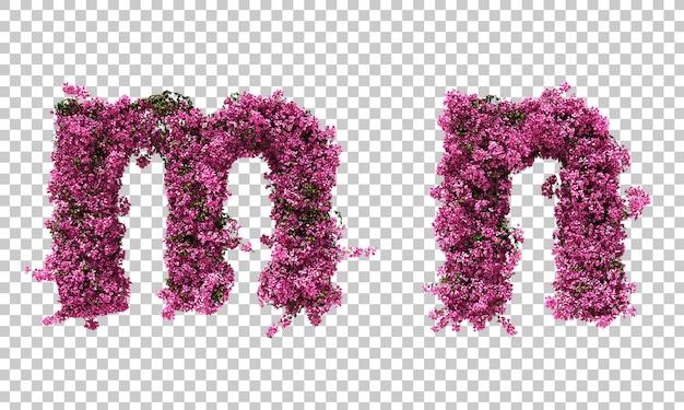 부겐빌레아 알파벳의 3d 렌더링