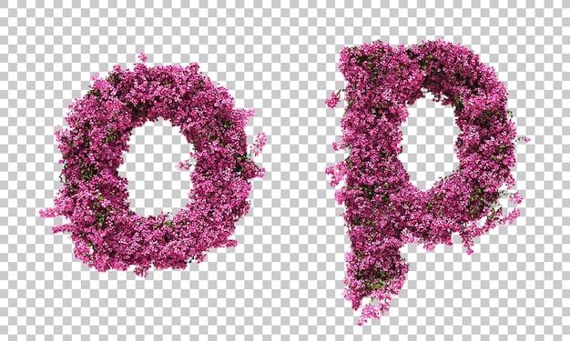 3d-рендеринг алфавита бугенвиллии