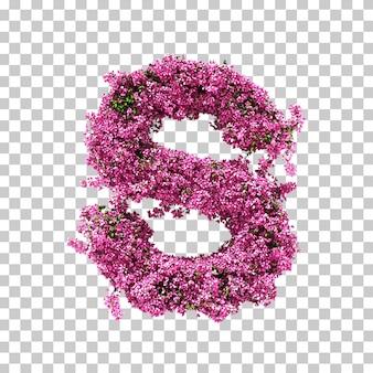 3d-рендеринг бугенвиллии буквы s