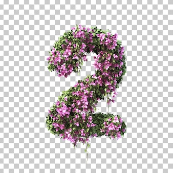 3d-рендеринг бугенвиллии № 2