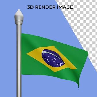 ブラジルの国旗の概念の3dレンダリングブラジル建国記念日