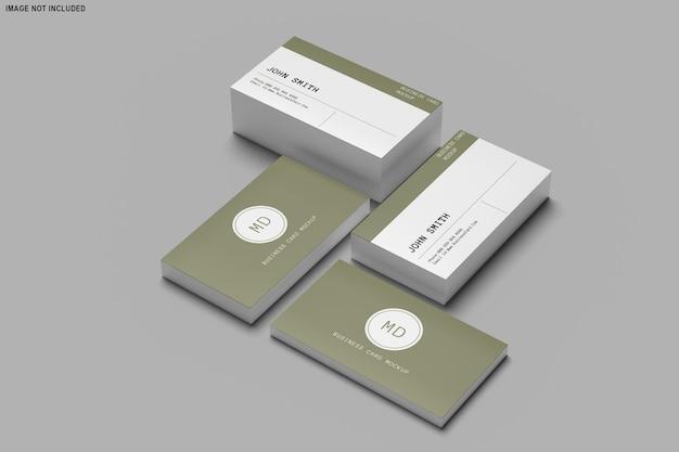 명함 모형 디자인의 3d 렌더링