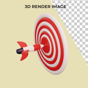 대상 개념 프리미엄 psd가 있는 비즈니스의 3d 렌더링
