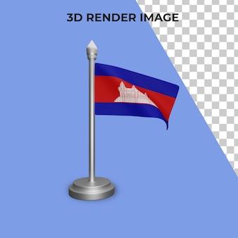 3d визуализация концепции флага камбоджи национальный день камбоджи