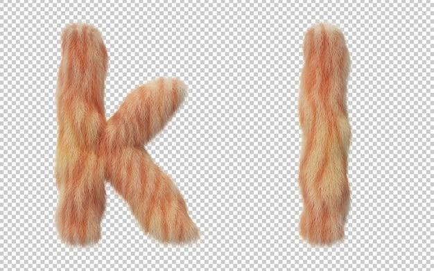 고양이 머리 효과 알파벳의 3d 렌더링