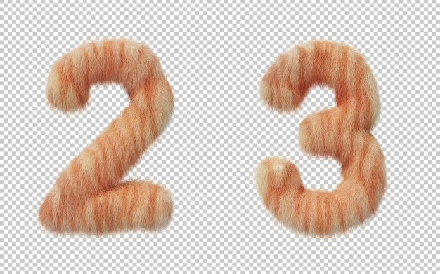 고양이 머리 효과 번호의 3d 렌더링