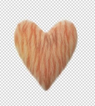고양이 머리 심장 모양의 3d 렌더링