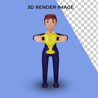 3d-рендеринг персонажа с бизнес-концепцией