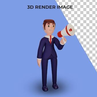 ビジネスコンセプトのキャラクターの3dレンダリング