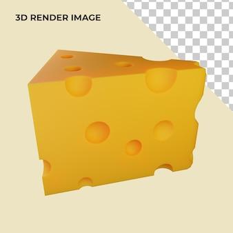 치즈의 3d 렌더링