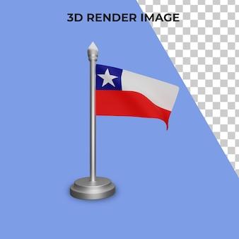 칠레 국기 개념 칠레 국경일 프리미엄 psd의 3d 렌더링