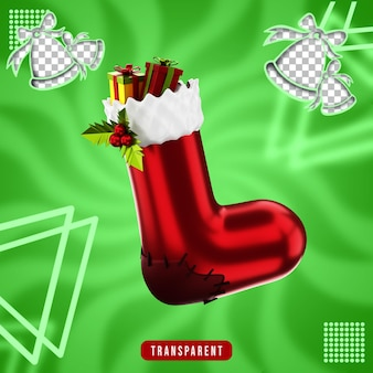 3d-рендеринг рождественских носков