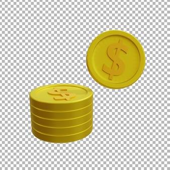 コインの3dレンダリング