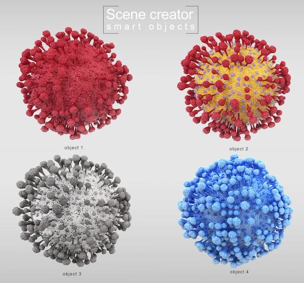 3d-рендеринг корорнавируса