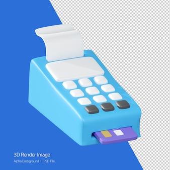 3d-рендеринг значка машины кредитной карты, изолированные на белом.