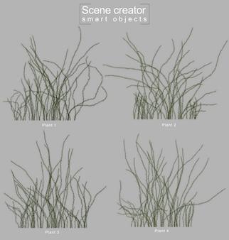 忍び寄る植物の3 dレンダリング