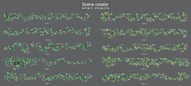 3d-рендеринг ползучей звезды жасмина