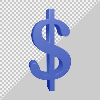 3d-рендеринг символа доллара