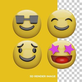 3d-рендеринг выражения emoji
