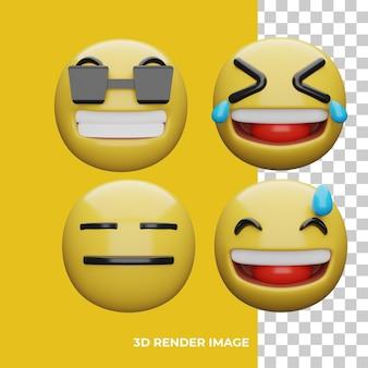 표현 이모티콘의 3d 렌더링