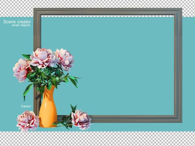 花瓶フレームの3dレンダリング