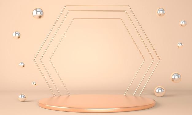 기하학적 도형 렌더링의 3d 렌더링