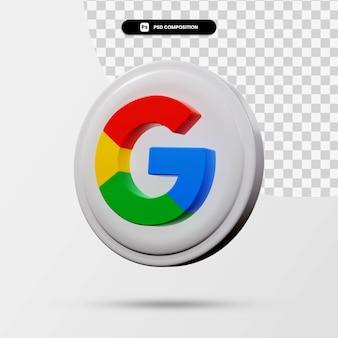 分離されたグーグルアプリケーションのロゴの3dレンダリング