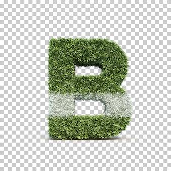잔디 경기장 알파벳 b의 3d 렌더링