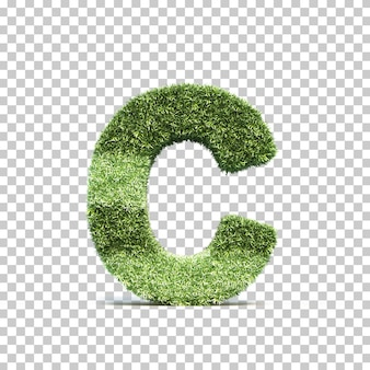 잔디 경기장 알파벳 c의 3d 렌더링