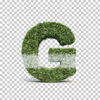 잔디 경기장 알파벳 g의 3d 렌더링