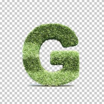 3d-рендеринг травы игрового поля алфавита g