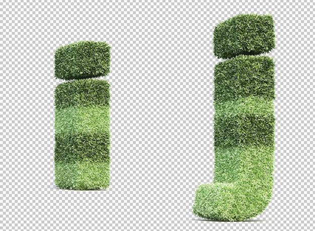 3d-рендеринг травы игрового поля алфавит i и алфавит j